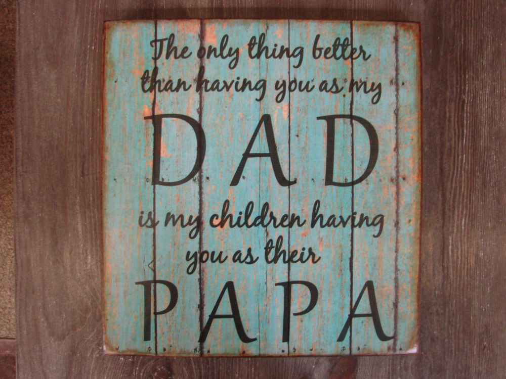 Dad Papa Distressed Wood Signs Great For Father S Day Gift