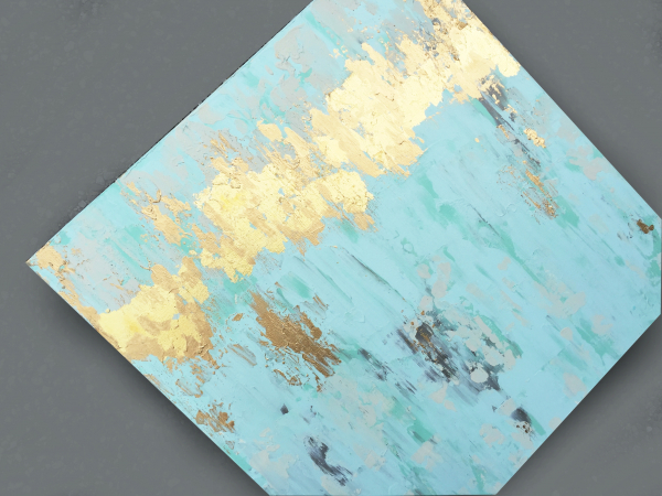gold leaf texture painting angle left