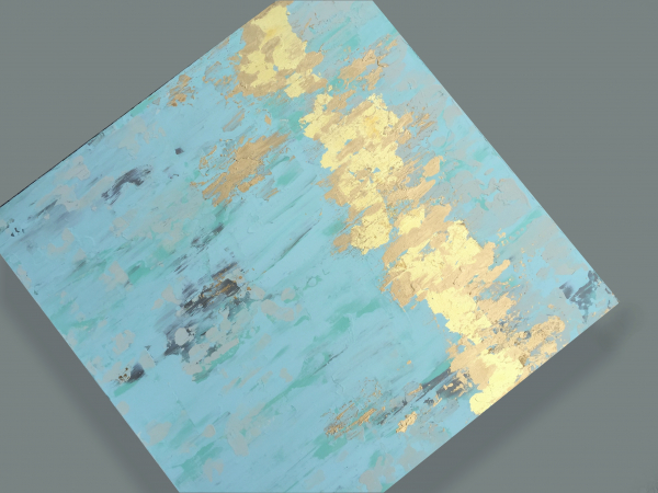 gold leaf texture painting angle right