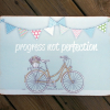 Progress not Perfection Bicycle and flowers teacher gift