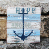 hope, anchor, nautical, pallet sign, pallet art