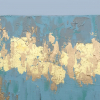 gold leaf texture painting up close