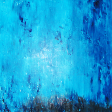 abstract, blue, knife painting