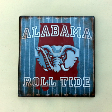 ALABAMA Crimson Tide distressed wood plaque, 12x12, originial design, gift, football, roll tide, wood sign