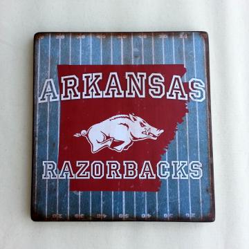 Arkanasas Razorbacks distressed wood plaque, 12x12, originial design, gift, football, go hogs, wood sign, woo pig sooie