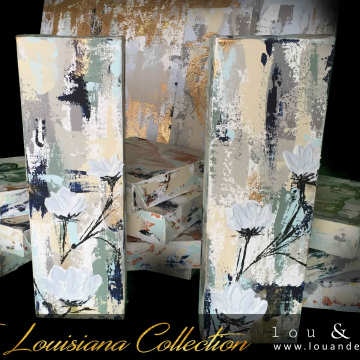 """Lily Knife Painting, The Louisiana Collection, 4""""x12"""""""