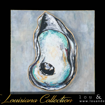 Oyster Shell Painting 24x24, The Louisiana Collection