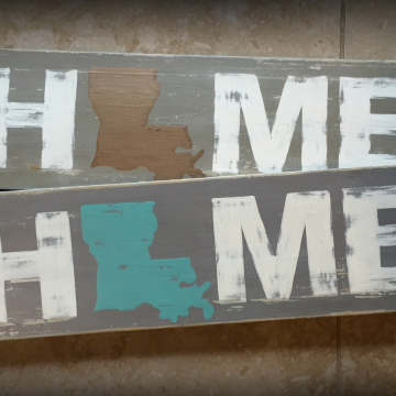 Home State Sign, hand painted, distressed wood plank, pallet sign, Home State Sign