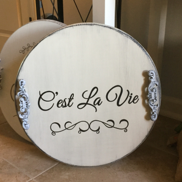 Decorative Serving Platter, C'est La Vie, 18""