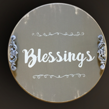 Decorative Serving Platter, Blessings, 18""
