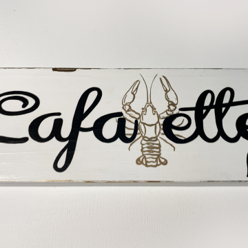 Lafayette, Hand painted home town plaques, custom gift, 6x14