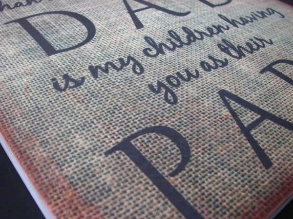 Burlap Wood Dad Papa Sign Fathers Day Gift