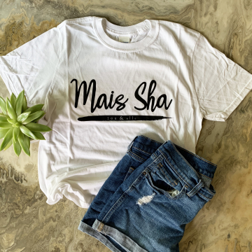 Mais Sha, Lou and Elle Tshirt, French Word Tshirt